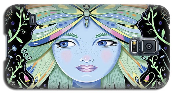 Insect Girl, Winga - Black Galaxy S5 Case