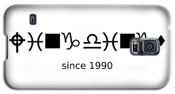 Wingdings Since 1990 - Black Galaxy S5 Case