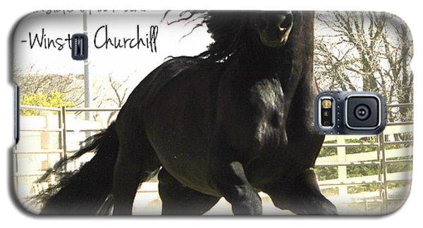 Winston Churchill Horse Quote Galaxy S5 Case