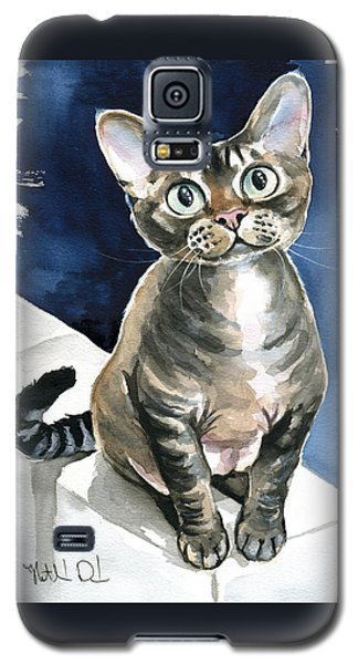 Winter Devon Rex Cat Painting Galaxy S5 Case