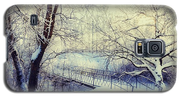Cold Galaxy S5 Case - Winter Landscape In Vintage Tones - by Marina Zezelina