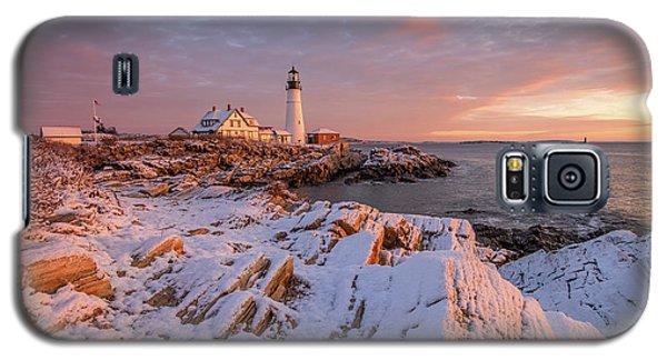 Winter Sunrise At Portland Head Light Galaxy S5 Case