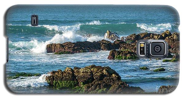Winter Waves Hit Ancient Rocks No. 1 Galaxy S5 Case