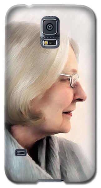 Woman In Grey Galaxy S5 Case