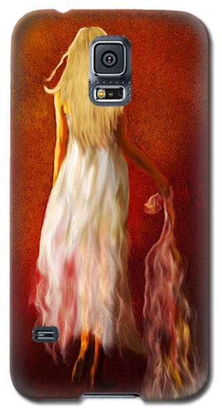 Woman In White Galaxy S5 Case