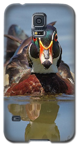 Wood Duck Face First Galaxy S5 Case