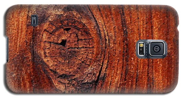 Galaxy S5 Case featuring the digital art Wood Knot by ISAW Company