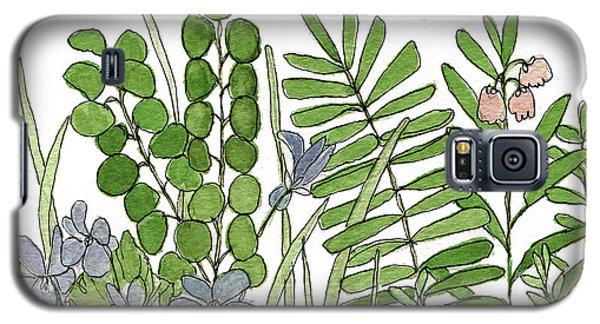 Woodland Ferns Violets Nature Illustration Galaxy S5 Case
