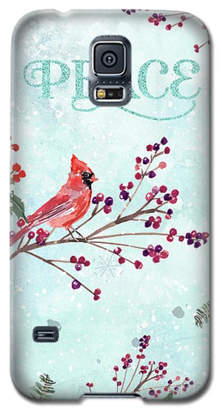 Woodland Holiday Peace Art Galaxy S5 Case