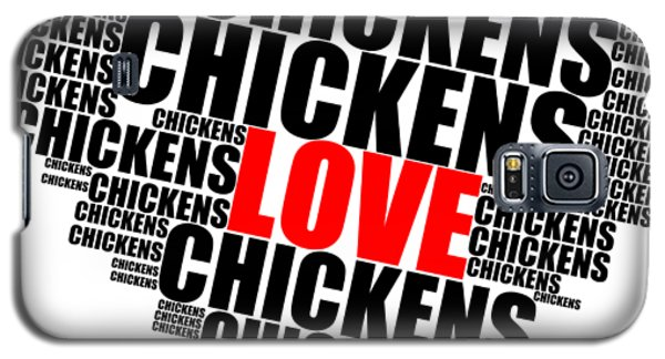 Wordcloud Love Chickens Black Galaxy S5 Case