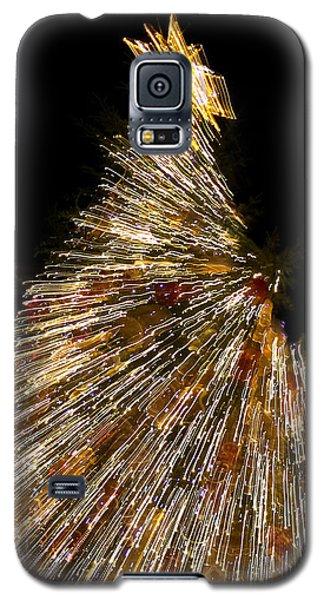 Xmas Tree Motion Art Galaxy S5 Case