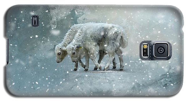 Yaks Calves In A Snowstorm Galaxy S5 Case