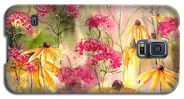 Orchid Galaxy S5 Case - Yellow Ballerinas by Suzann's Art