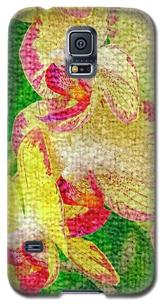 Yellow/rouge Orchids Galaxy S5 Case