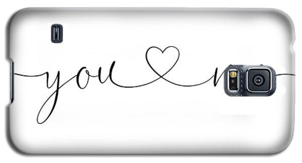 You And Me Black And White Galaxy S5 Case