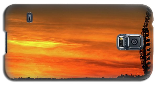 Vertical Roller Coaster At Sunset Galaxy S5 Case