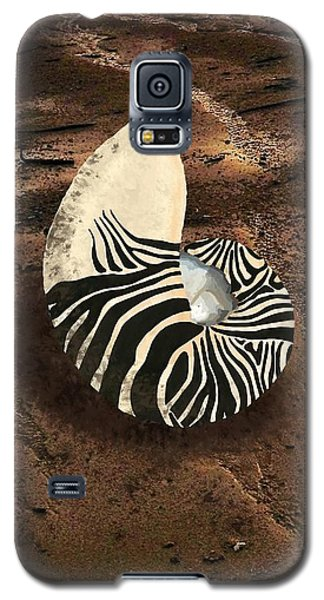 Zebra Nautilus Shell On The Sand Galaxy S5 Case
