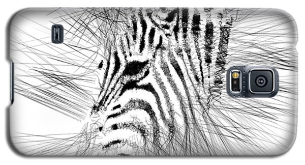 Galaxy S5 Case featuring the digital art Zebrart by ISAW Company