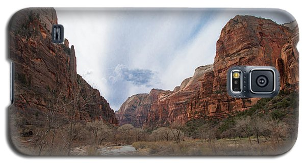 Zion National Park And Virgin River Galaxy S5 Case