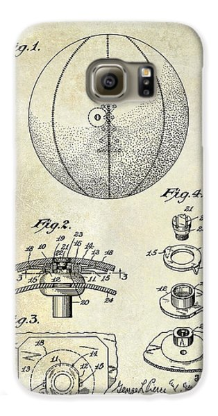 1927 Basketball Patent Drawing Galaxy S6 Case by Jon Neidert