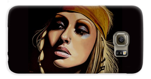 Rhythm And Blues Galaxy S6 Case -  Christina Aguilera Painting by Paul Meijering