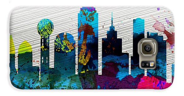 Dallas City Skyline Galaxy S6 Case by Naxart Studio