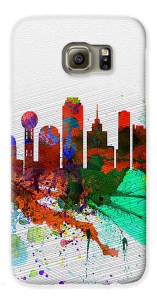 Dallas Galaxy S6 Case -  Dallas Watercolor Skyline by Naxart Studio