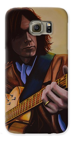 Neil Young Painting Galaxy S6 Case by Paul Meijering