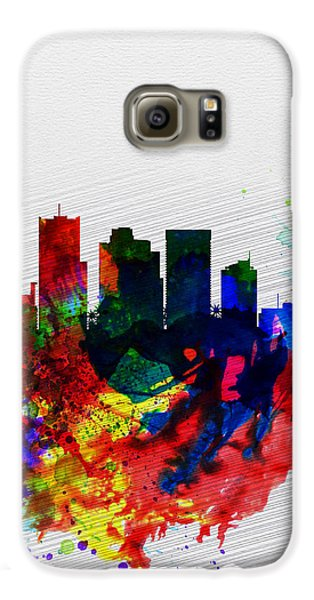 Phoenix Watercolor Skyline 2 Galaxy S6 Case by Naxart Studio