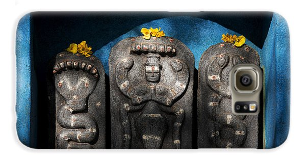 Rural Indian Hindu Shrine  Galaxy S6 Case by Tim Gainey