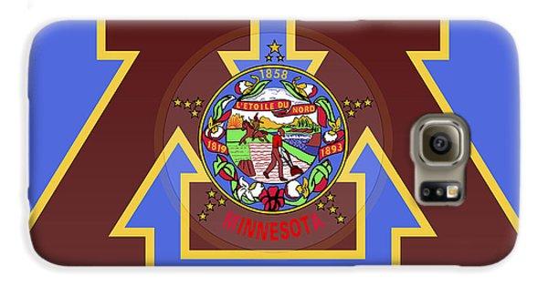 U Of M Minnesota State Flag Galaxy S6 Case by Daniel Hagerman