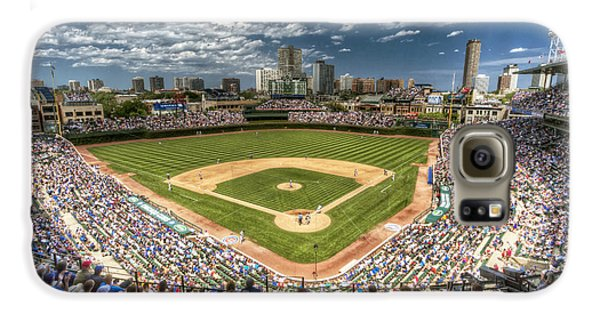 Wrigley Field Galaxy S6 Case - 0234 Wrigley Field by Steve Sturgill