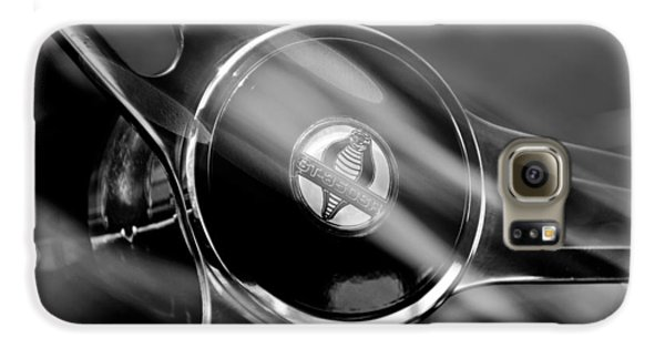1965 Ford Mustang Cobra Emblem Steering Wheel Galaxy S6 Case by Jill Reger
