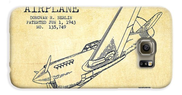Airplane Galaxy S6 Case - Airplane Patent Drawing From 1943-vintage by Aged Pixel