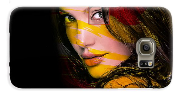 Celebrities Galaxy S6 Case - Angleina Jolie by Marvin Blaine