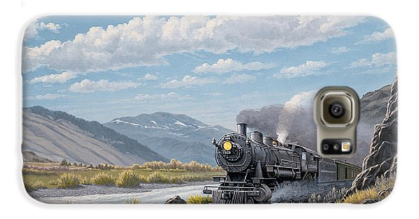 Train Galaxy S6 Case - At Point Of Rocks-bound For Livingston by Paul Krapf