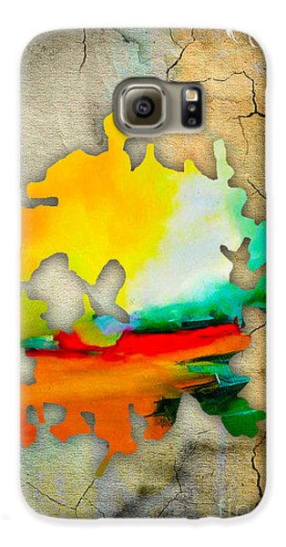 Austin Map Watercolor Galaxy S6 Case by Marvin Blaine