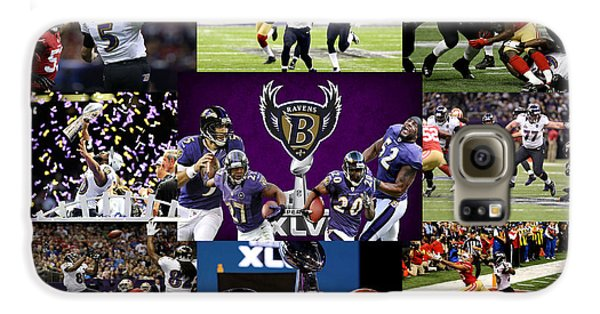 Baltimore Ravens Galaxy S6 Case by Joe Hamilton