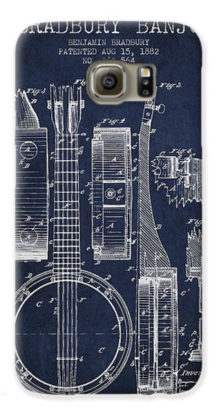 Banjo Patent Drawing From 1882 - Blue Galaxy S6 Case