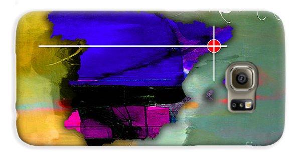 Barcelona Spain Map Watercolor Galaxy S6 Case