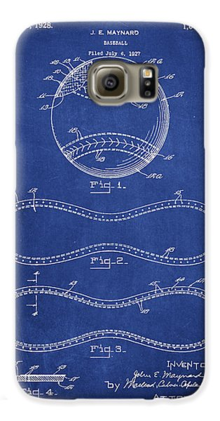 Baseball Gloves Galaxy S6 Case - Baseball Patent Drawing From 1927 by Aged Pixel