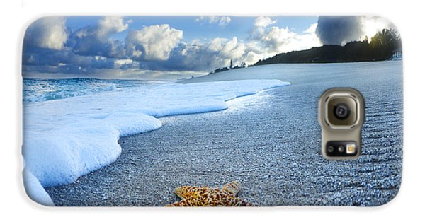 Blue Foam Starfish Galaxy S6 Case