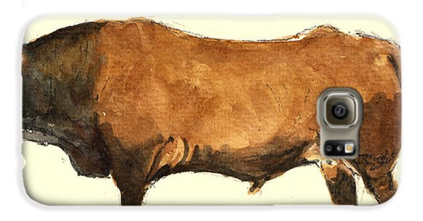 Bull Galaxy S6 Case - Bull by Juan  Bosco