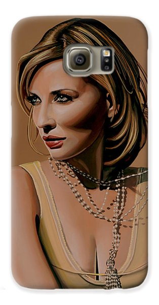 Robin Galaxy S6 Case - Cate Blanchett Painting  by Paul Meijering