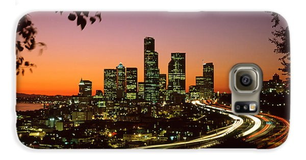 City Of Seattle Skyline Galaxy S6 Case by King Wu