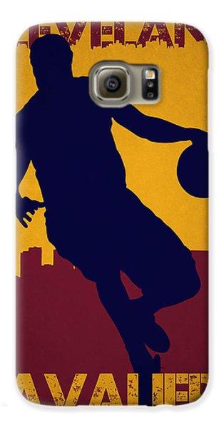 Cleveland Cavaliers Lebron James Galaxy S6 Case by Joe Hamilton