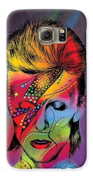 Elvis Presley Galaxy S6 Case - David Bowie by Mark Ashkenazi