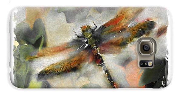 Impressionism Galaxy S6 Case - Dragonfly Garden by Bob Salo
