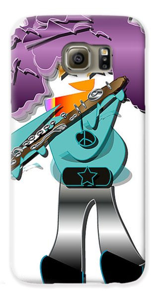 Flute Player Galaxy S6 Case by Marvin Blaine