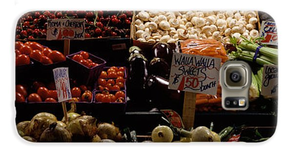 Fruits And Vegetables At A Market Galaxy S6 Case by Panoramic Images